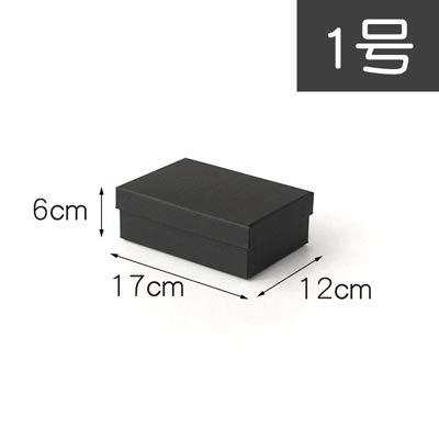 Xiaogongju 1Pc Christmas Black Sweet GIF Box Beloved Valentine's Day Paper Gift Bag Creative Wedding Jewelry Box Packing no.1 -