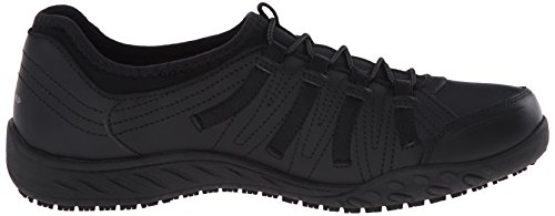 Sneaker Women's Black Slip Work for Bungee Lace Skechers up Resistant wAan8O81q