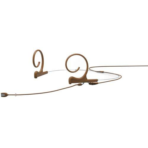ne Dual-Ear Directional Headset Microphone with Microdot Termination Connector and 100mm Medium Boom, Adaptor Required, 20Hz-20kHz, Brown ()