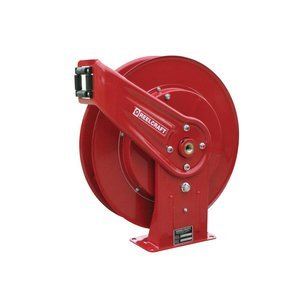 Reelcraft 7800 OMP Heavy Duty Spring Retractable Hose Reel, 50' Oil Hose Not Included by Reelcraft