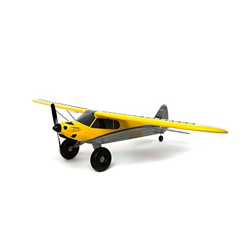HobbyZone Carbon Cub S+ 1.3m RTF RC Airplane with Safe | 2.4GHz Tx/Rx Radio System| 1300mAh 3S 11.1V 20C LiPo Battery | DC Charger and AC Adapter