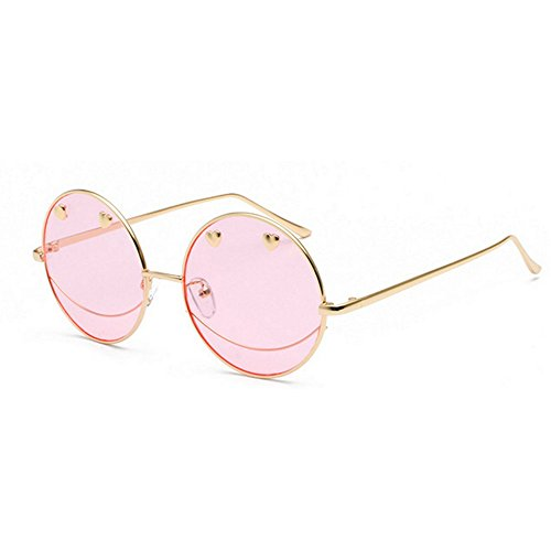 2018 new Korean version of the couple of hipster jelly personality unisex sunglasses (pink) by mincl