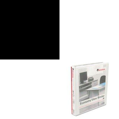 KITSAF1861GRUNV20962 - Value Kit - Safco Wave Design Printer Stand (SAF1861GR) and Universal Round Ring Economy Vinyl View Binder (UNV20962)
