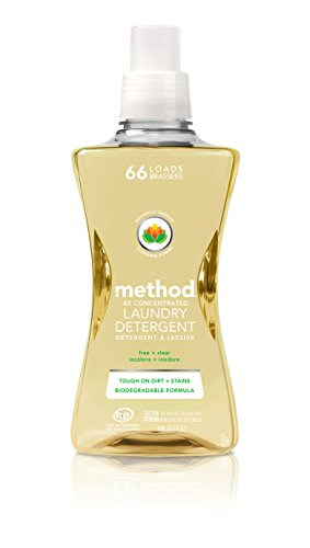 method-naturally-derived-4x-concentrated-laundry-detergent-free-clear-66-loads-535-fluid-ounce-4-cou