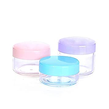4c64be63fc0b Amazon.com : Travel Empty Cosmetic Jar, LANDOR 10 PACK Plastic Empty ...