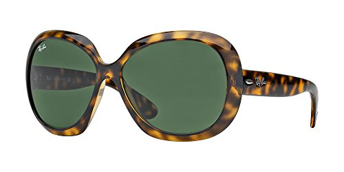 New Ray Ban Jackie Ohh II RB4098 710/71 Demi-Brown/Gray-Green 60mm Sunglasses
