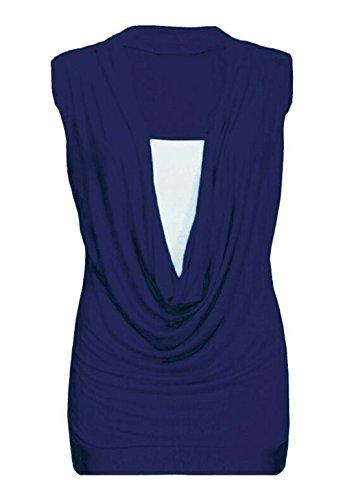biHo - Camiseta sin mangas - para mujer azul marino