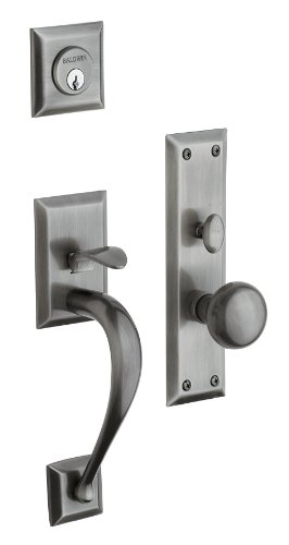 Concord Baldwin Brass Trim Entry - Baldwin Hardware 6571.151.ENTR Concord set Trim Front Door Handle