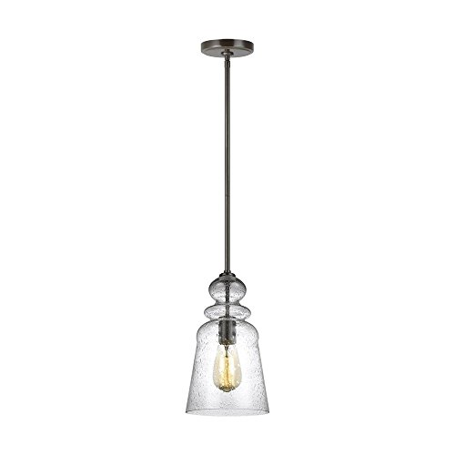 Sea Gull Lighting 6536901-782 Kea Hanging Modern Fixture One Light Pendant, Heirloom Bronze ()