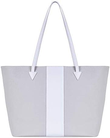 Aurora London - Bolso de Tela para Mujer Blanco Gris/Blanco: Amazon.es: Equipaje