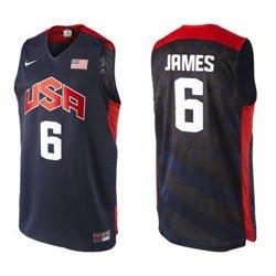 san francisco 511ec 64b35 lebron james usa basketball jersey