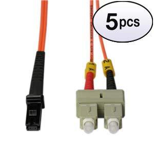 (GOWOS (5 Pack) 5m SC-MTRJ Duplex Multimode 50/125 Fiber Optic Cable)