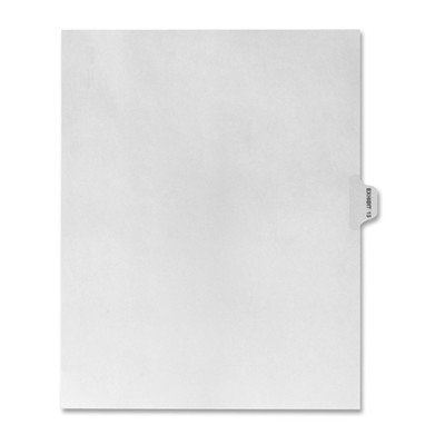 Numerical Index Dividers, Exhibit 15, Letter, 10/BX White [Set of 3]