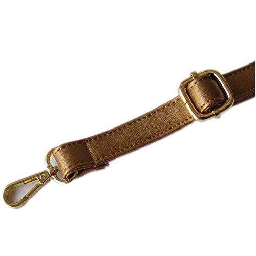 Golden Style Pu Leather Max 140cm Adjustable Replacement Shoulder Bag/Messenger Bag Strap DIY (Width 1.2cm, Sheepskin Pattern Golden)