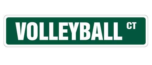 - [SignJoker] VOLLEYBALL Street Sign signs ball net player team gift Wall Plaque Decoration