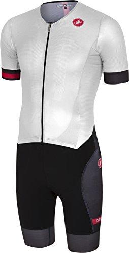 Castelli Free Sanremo Short-Sleeve Suit - Men's White/Black, L from Castelli
