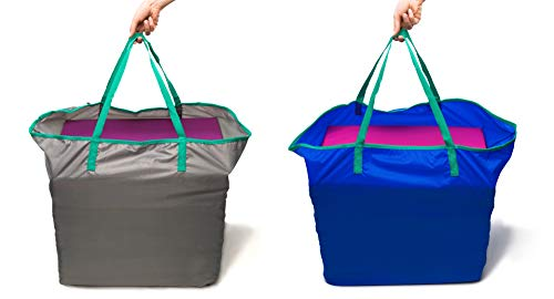 Triple Folding Nursery Sleep Mat in Aqua Stone Grey for Children /& Toddlers