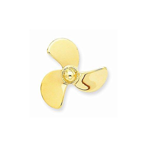 Core Gold 14K Propeller Chain Slide