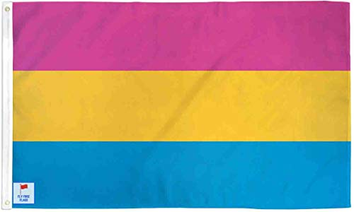The Flag Joint - Pansexual Pride 3x5ft Fly Free Flag - Poly (Joint Banner)