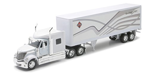 Diecast Tractor Truck (Newray International Lone Star Tractor Trailer Hauler 1/32 Scale Diecast Model)