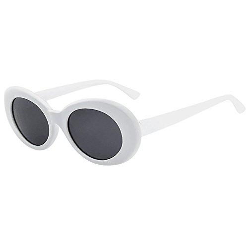 Amober Retro Vintage Unisex Sunglasses Rapper Oval Shades Grunge Glasses