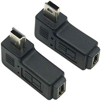 da maschio a femmina per micro USB 5/pin uno a destra e uno sinistra CY 2 adattatori con angolo di 90/gradi
