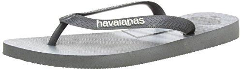Havaianas Men's Hype Flip Flops Multicolor (Steel Grey)