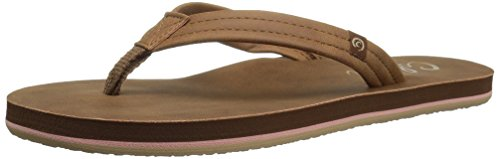 Cobian Women's Pacifica Flip-Flop, Tan, 7 M US