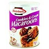 Manischewitz Cookies & Cream Macaroons Kosher For Passover 10 oz.Pack of 6.