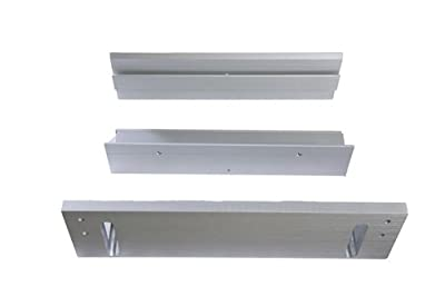 Schlage Electronics TJ490 628 Top Jamb Bracket Kit for M490 Series Electromagnetic Lock, Satin Aluminum