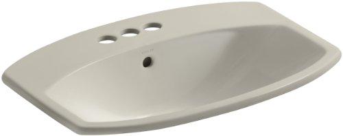 KOHLER K-2351-4-G9 Cimarron Self-Rimming Bathroom Sink, Sandbar ()