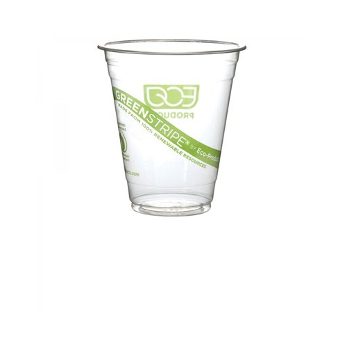 Eco-Products GreenStripe Renewable and Compostable Cold Cups - 16 oz - Case of 500
