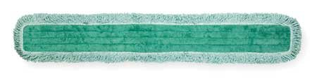 Rubbermaid Commercial FGQ44900GR00 HYGEN Microfiber Dust Mop Pad with Fringe, Single-Sided, 48-inch - Edge Loop Fringe