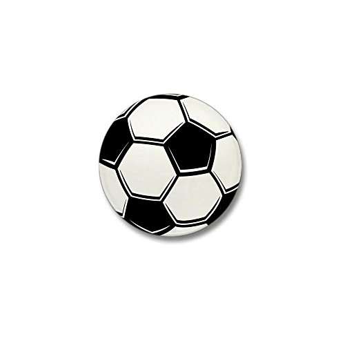 Mini Football Button - CafePress Soccer Ball Mini Button 1