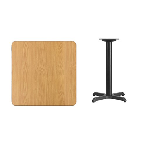 "Flash Furniture 30"" Square Natural Laminate Table Top with 22"" x 22"" Table Height Base Review"