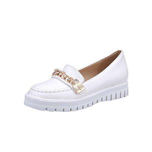 Latasa Damesmode Kettingen Instappers Loafers Schoenen Wit