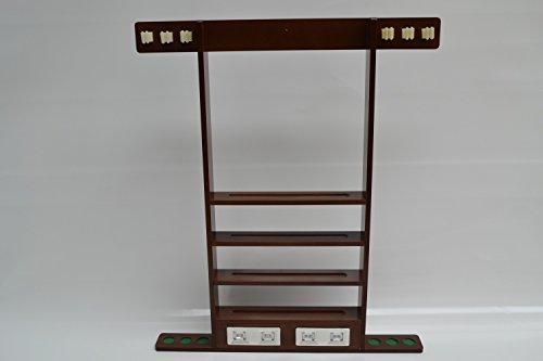 Queue Wandhalterung Holz Ständer für 6 Queues Queuehalter mit Punktezähler