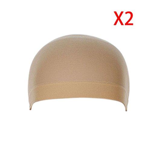 ELENXS Beauty Accessoires 2Pcs Unisex Stocking Perücke Liner Cap Snood Nylon Stretch Mesh-Perücke Haarnetze