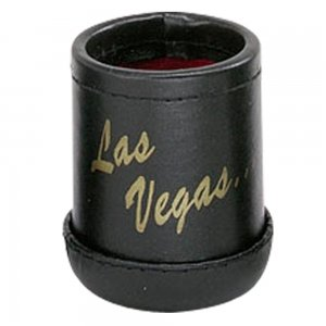 """Black Deluxe """"Welcome To Las Vegas"""" Dice Cup with 5 Standard Dice"""