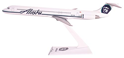 Alaska (91-Cur) MD-83 Airplane Miniature Model Plastic Snap-Fit 1:200 Part# ()