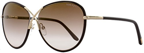 Tom Ford FT0344 48G Sunglasses, Brown/Gold Frame, Brown Mirrored Gradient Lens, - Sunglasses Rosie