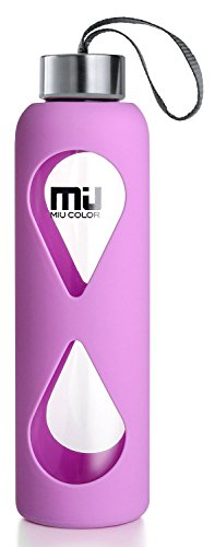 18oz-Glass-Water-Bottle-MIUCOLOR-Anti-slip-Silicone-Sleeve-with-Eco-friendly-Shatter-Resistant-Borosilicate-Glass-Bottle-BPA-PVC-Plastic-and-Lead-Free