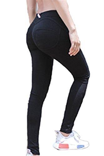 Blu Grazioso Lunga Waist Estivi Women Dell'Anca Primaverile Moda Slim Pantaloni Pantaloni Button Eleganti Fit Del High Donna Monocromo Tuta Matita Pantaloni Autunno Jogging Pacchetto Giovane Bodybuilding nwxq48fRwO