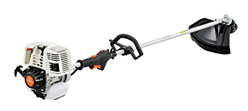 31CC 4 Cycle 2 in 1 Straight Shaft Grass Trimmer with Brush Cutter Blade and Bonus Harness by SUN SEEKER