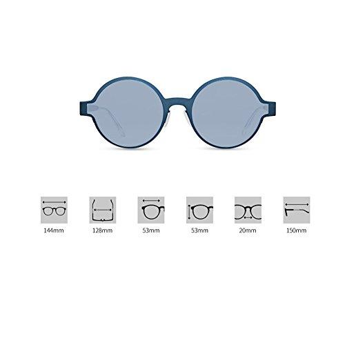 De Diseño Lightblue Montura Pequeñas De Gafas para Pink Polarizadas Metal Z con De Accesorios Redondas para Niñas De Gafas Sol Gafas amp;HA Premium Ropa Redonda Mujer wP4g6