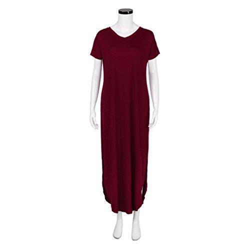 ❤ 50er Vintage Retro Kleid ❤ Damen Party Club Kleider Lose ...