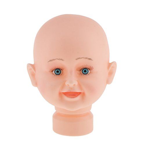 MonkeyJack Baby Boy Girl Children Dummy Mannequin Manikin Head For Hair Wigs Scarf Hats Sunglasses Stand Display Mould Model for Retail Stores Salon Home Use 17 inch