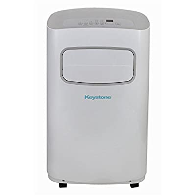Keystone KSTAP14CG 14,000 BTU 115V Portable Air Conditioner with Remote Control, White/Gray