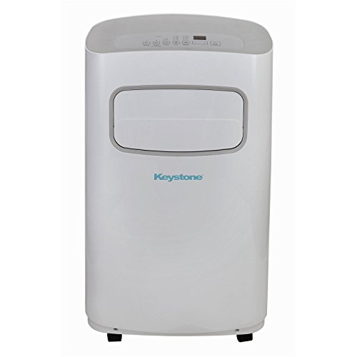 Keystone KSTAP12CG 115V Portable Air Conditioner with Remote Control in White/Gray for Rooms up to 300-Sq. Ft.