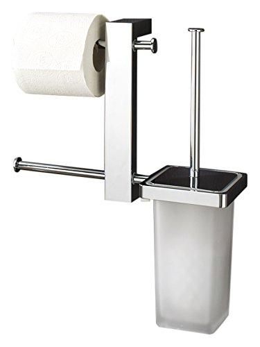 Butler Tissue Holder - Gedy Bridge Wall Mount Rack With Tissue Holder and Toilet Brush, Chrome